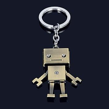 YLLY Llavero de Robot mecánico con Colgante Retro para ...