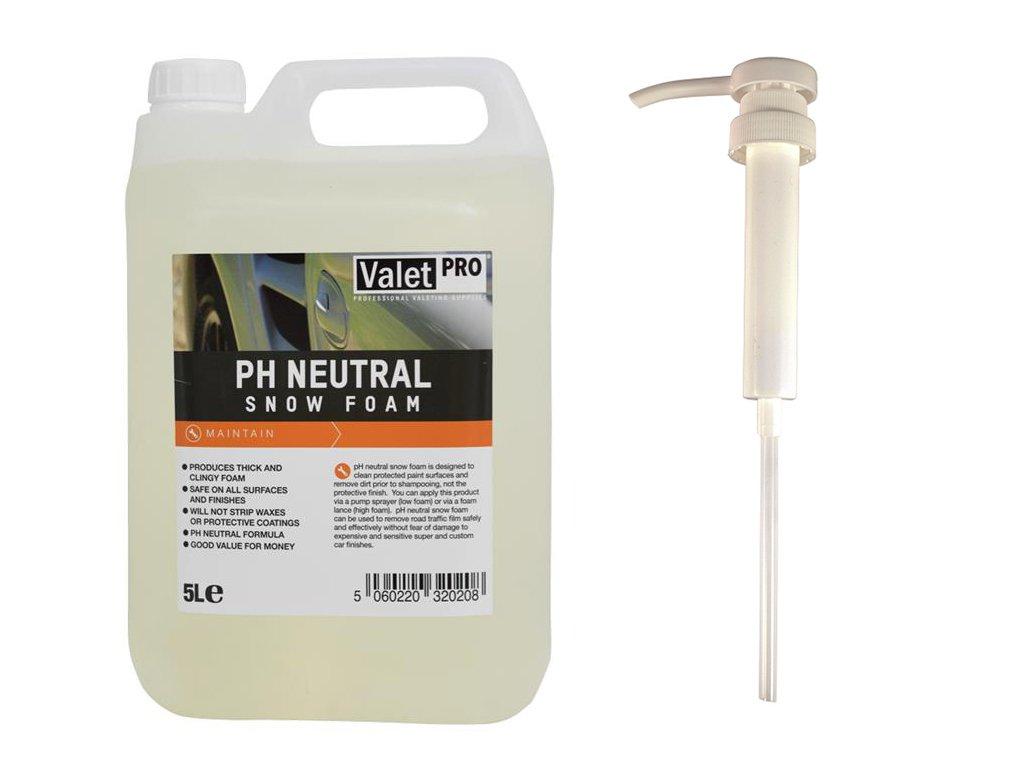 ValetPRO - Schiuma di neve pH neutro, 5 L + dosatore detailmate, dispenser a pompa manuale per bidone, pratico dispenser per facilitare il dosaggio della schiuma di neve al pH neutro