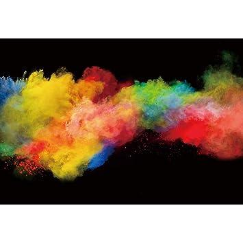 Amazon com : DORCEV 8x5ft Colorful Smoke Bomb Color