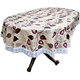 Stylista 4 Seater Table Cover Oval Shaped WxL 54x78 inches with White Border lace
