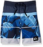 Quiksilver Little Boys' Slab Island Kids Swim Trunks, Navy Blazer, 3