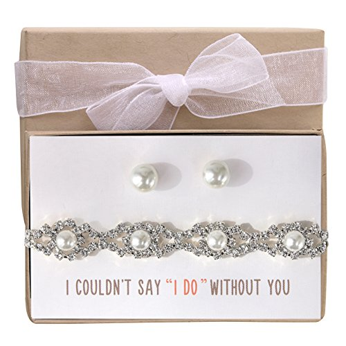 Wedding Jewelry set, Bracelet and Earring set gift for Bridesmaids or Bridal Party -