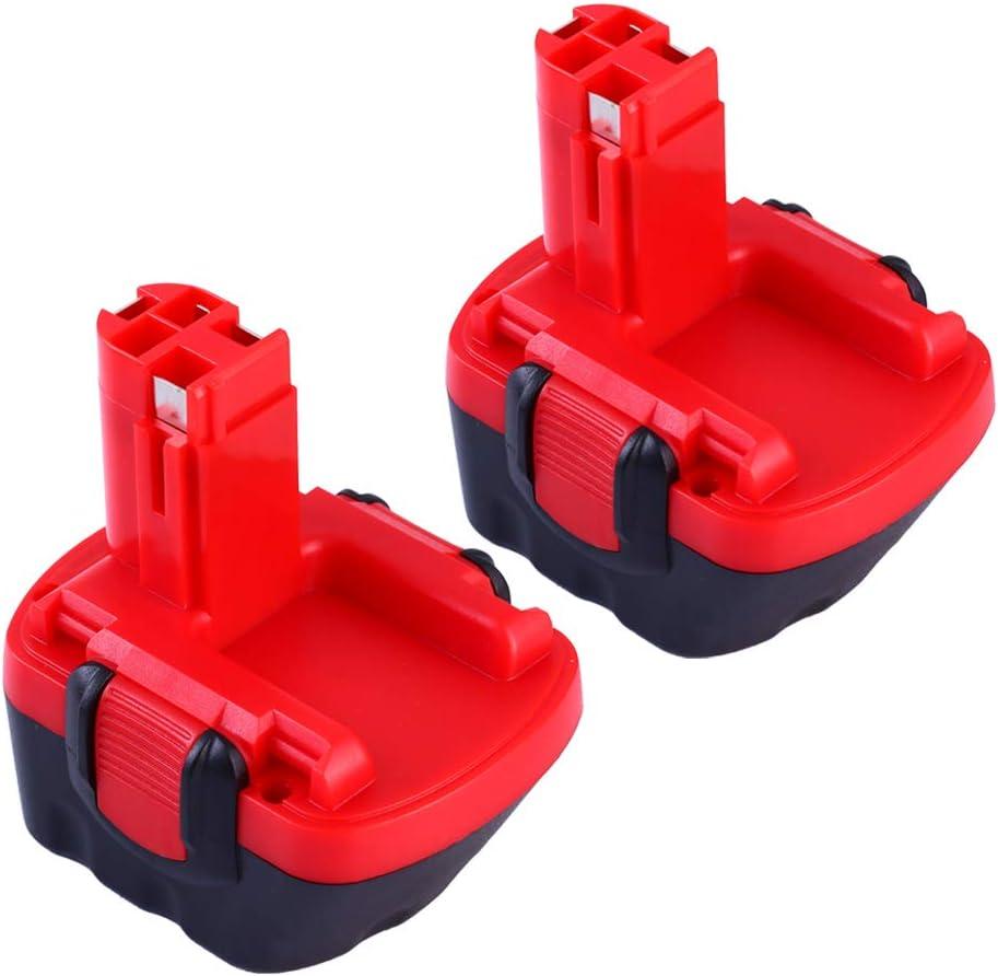 GatoPower 2x 12V 3.0Ah Reemplazo para Bosch Batería Ni-MH BAT043 BAT045 BAT120 BAT139 2607335542 2607335526 2607335274 2607335709 Herramienta eléctrica inalámbrica