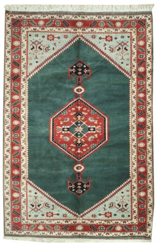 6.2 x 9 Rectangular Handmade Knotted Anatolian New Area Rug From Turkey - FREE SHIPPING