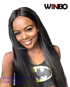WINBOWIG 8A Silky Straight Brazilian Virgin Remy Human Hair Glueless ...
