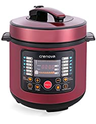 Crenova CR 38A 7 In 1 Multi Use Programmable Electric Pressure Cooker,  Multi Functional 6 Qt Digital Pressure Cooker   Stainless Steel
