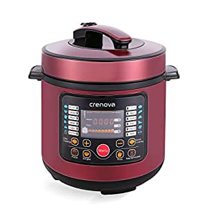 Crenova CR-38A 7-in-1 Multi-Use Programmable Electric Pressure Cooker, Multi-functional 6 Qt Digital Pressure Cooker | Stainless Steel