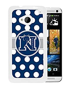 NCAA Nevada Wolf Pack AA 11 White Hard Shell Phone Case For HTC ONE M7