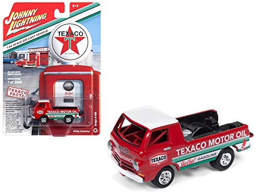 3000 Made Diecast Model - Dodge A-100 Pickup Truck Texaco Red Limited Edition to 3,000 Pieces Worldwide 1/64 Diecast Model Car by Johnny Lightning JLSP009