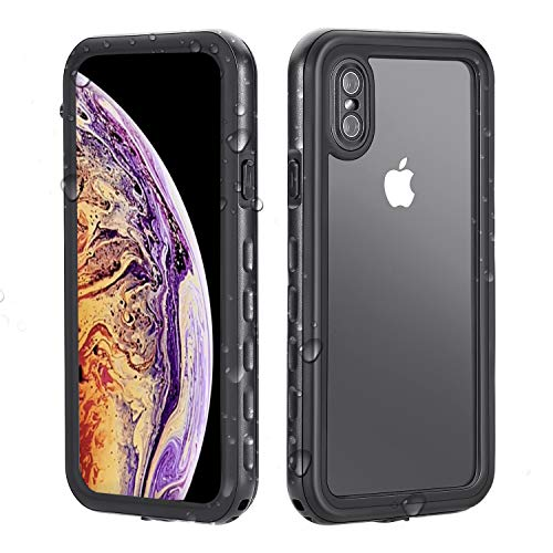 iPhone Xs Max Waterproof Case, Dustproof Snowproof Shockproof IP68 Certified, iPhone Xs Max Case Built-in Protector Full Body Rugged Cover iPhone Xs Max