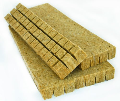 Stonewool Starter Plugs - Rockwool Grow Cubes (1.5 Inches) - Growing Medium Starter Sheets (30 Per Pack)