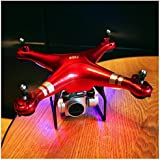 RC Quadcopter Wotryit Drone 1080P Wide Angle Lens 270 Degree Rotating HD Camera Drone FPV Gift (red)