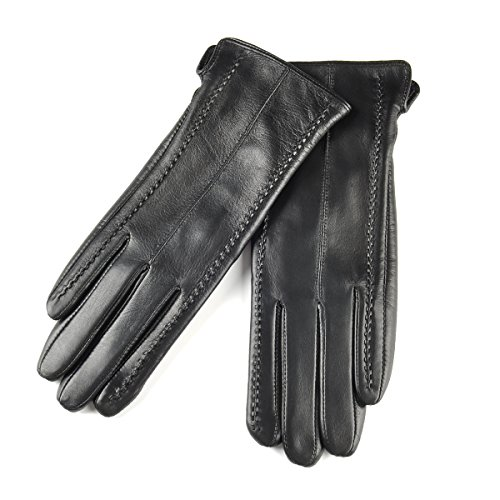 Leather Gloves Without Fingers - 7