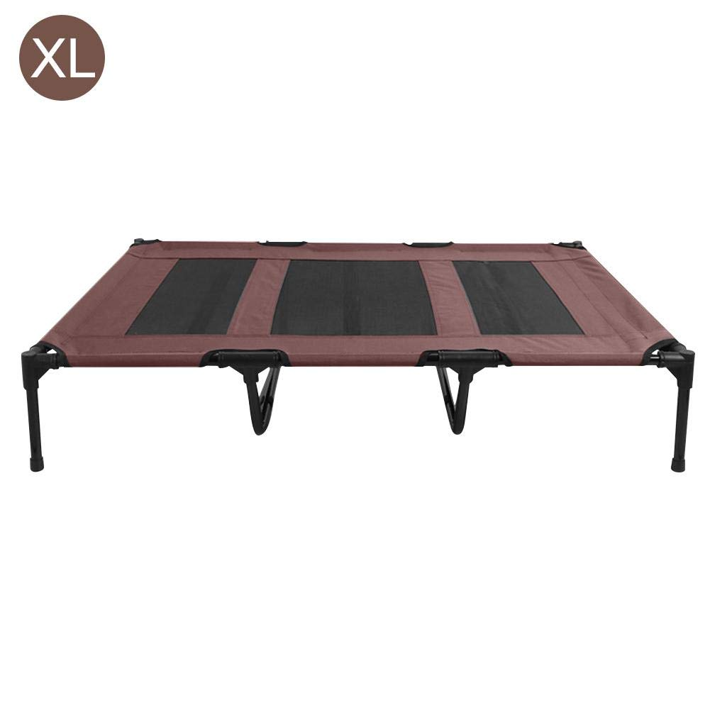 Coffee XLDubleir Elevated pet trampoline Breathable removable pet bed 4