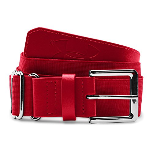 Under Armour Boys' Baseball Belt, Red/Red, One Size Boys Imported