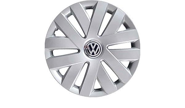 Juego de 4 tapacubos para llanta de 15 pulgadas (38,1 cm), para Volkswagen Polo a partir del 2009, no originales.: Amazon.es: Coche y moto