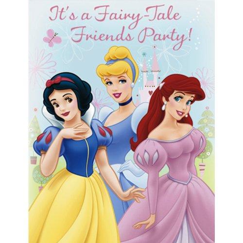 Disney's Princess Fairy Tale Friends Invitations (8 count) Fairy Princess Birthday Invitations