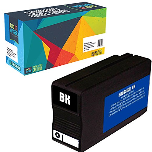 Do it Wiser Compatible Black Ink for HP OfficeJet Pro 8600 8610 8620 8100 8615 8625 8630 8600 Plus 8600 Premium 251dw 276dw - 950XL CN045AN - 2 - 300 pages