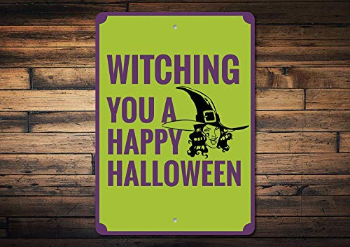 rfy9u7 Witch Sign Happy Halloween Sign Halloween Decor Witch Decor Witch Lover Gift Funny Halloween Phrase Sign Quality -