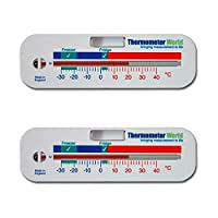Twin Pack Freezer and Fridge Thermometer - Refrigerator Chiller Cooler Temperature gauge **Two Year Warranty**