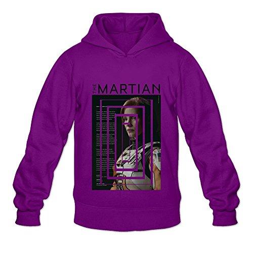 Posters Jessica Simpson - Men's Jessica Chastain The Martian Hooded Sweatshirt Size XXL Purple