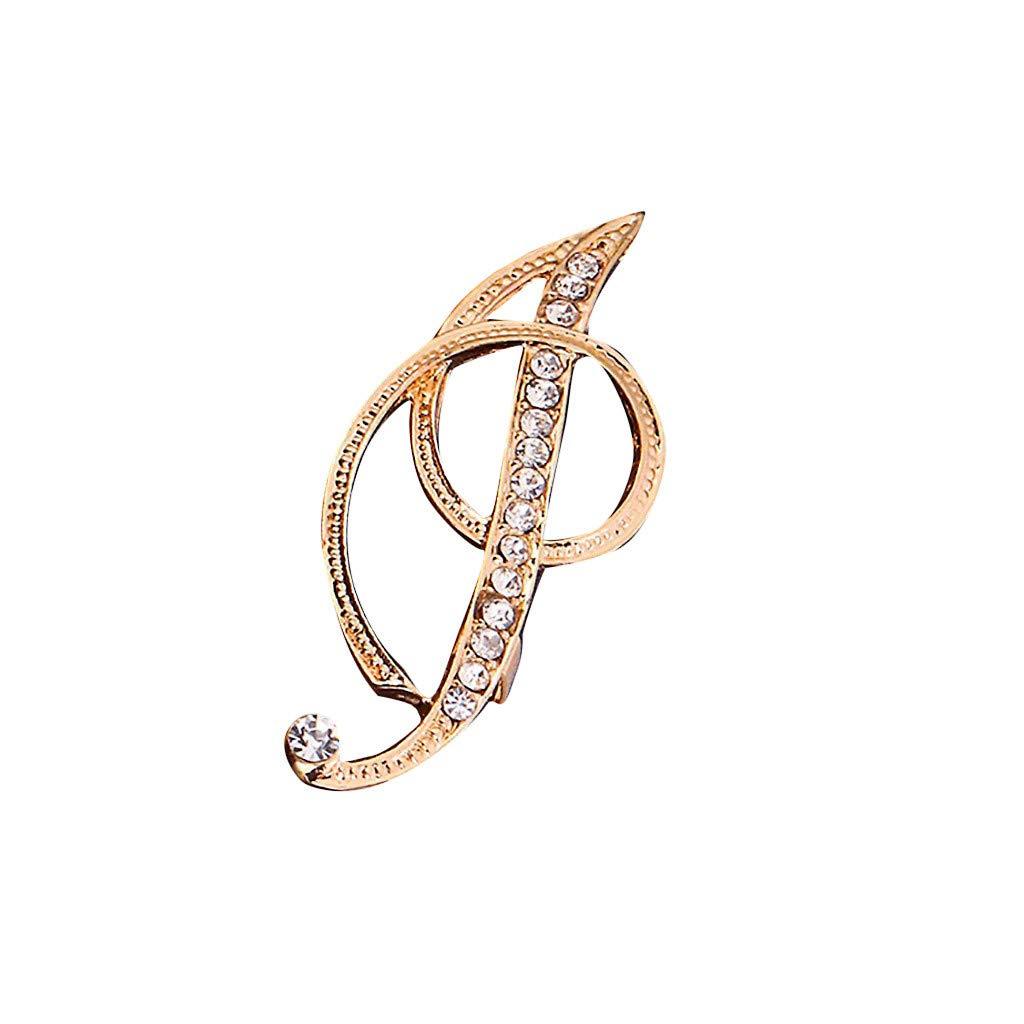 Clacce Brosche 1 st/ück kristall 26 englisch buchstaben brosche paar gedenkschmuck liebe geschenke