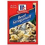 McCormick Beef Stroganoff Seasoning Sauce Mix, 1.5oz Packet (Pack of 3) by McCormick