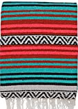 El Paso Designs Peyote Hippie Blanket Classic Mexican Style Falsa Stripe Pattern in Vivid Peyote Colors. Throw, Bed, Tapestry, or Yoga Blanket. Hand Woven Acrylic, 57'' x 74'' (Peyote 14)