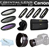 Essential Lens Kit For The Canon SX30IS SX30 IS SX40HS SX40 HS Digital Came ....