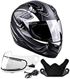 Typhoon Helmets Adult Full Face Snowmobile Winter Helmet With Heated Face Shield DOT (Grey, Large)