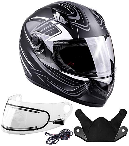 Typhoon Helmets Adult Full Face Snowmobile Winter Helmet With Heated Face Shield DOT (Grey, XXL) (Best All Around Snowmobile)