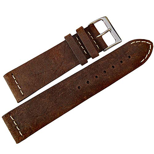 ColaReb Italy 18mm Spoleto Dark Brown Leather Watch Strap by ColaReb