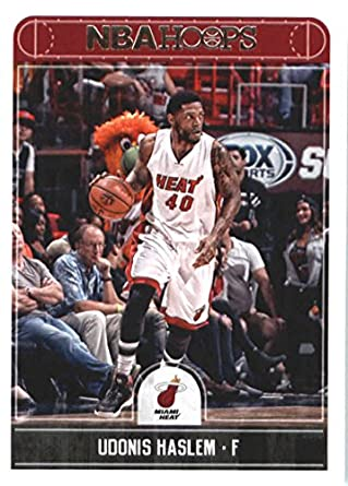 newest 60f74 2f3d9 Amazon.com: 2017-18 NBA Hoops #72 Udonis Haslem Miami Heat ...