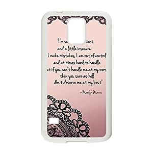 Customize Marilyn Monroe Quotes TPU Case TPU Phone case cover for SamSung Galaxy S5 white
