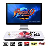 TAPDRA Pandora's Box 9 Multiplayer Joystick and Buttons Arcade Console, Cabinet Games Machines for Home, 1500 Retro Classic Video Games, Newest System with Advanced CPU, Compatible with HDMI (Grey)