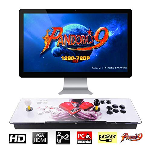 - TAPDRA Pandora's Box 9 Multiplayer Joystick and Buttons Arcade Console, Cabinet Games Machines for Home, 1500 Retro Classic Video Games, Newest System with Advanced CPU, Compatible with HDMI (Grey)