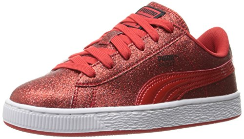 Puma Basket Holiday Glitz Kids Sneaker (Little Kid/Big Kid) High Risk Red