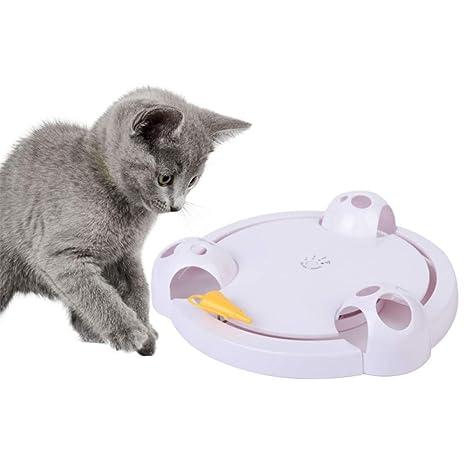 Comoo Juguetes interactivos para Gatos y Gatos, Divertidos y automáticos, giratorios, para Gatos