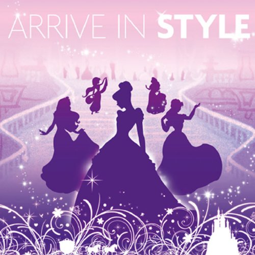 Artissimo Designs 35403CPBG0 Princess Arrive in Style Printed Canvas Art, 18 by 18-Inch by Artissimo Designs