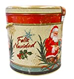 Authentic Italian Panettone in Decorative Festive Tin (Merry Christmas Santa Tin)