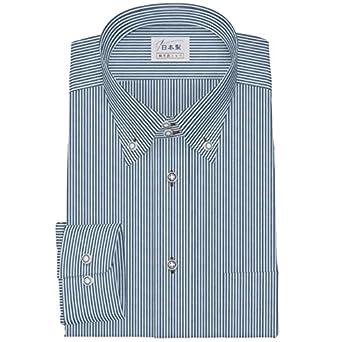 f2c1e682f734 Amazon | ワイシャツ 軽井沢シャツ [A10KZB223]ボタンダウン ドゥエショート 純綿 ネイビー らくらくオーダー受注生産商品 | シャツ  通販