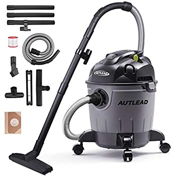 AUTLEAD Wet Dry Vacuum 5.5 HP 5 Gallon Pure Copper Motor Wet/Dry/Blow 3 in 1 Shop Vac, Stable Round Bucket Design with Pulley System and HEPA Filter, WDS01A