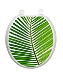 Palm Frond Tattoo TT-1500-R Round Beach Ocean Theme Cover Bathroom