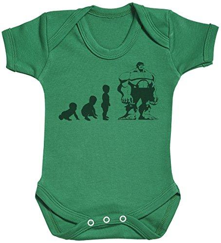 Baby Evolution to A Hulk Baby Gift, Baby Boy Gift, Baby Girl Gift, Baby Boy Bodysuit, Baby Girl Bodysuit - 6-12 Months Green