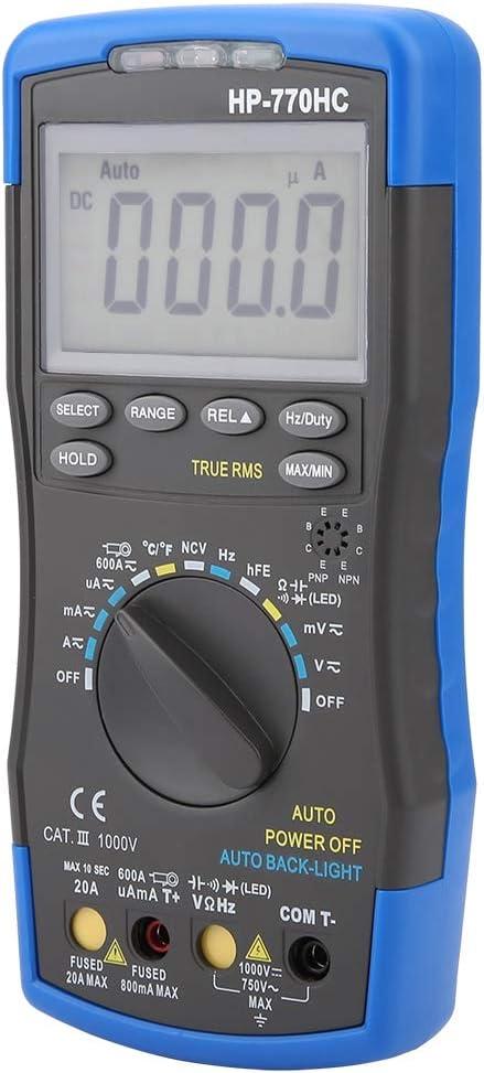 HoldPeak HP-770HC Multimeter Multim/ètre num/érique Multim/ètre num/érique /à s/élection automatique avec fonction NCV et temp/érature//fr/équence