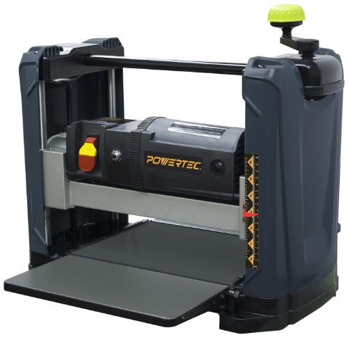 "POWERTEC PL1251 15 Amp 2-Blade Benchtop Thickness Planer For Woodworking, 12-1/2"" Portable"