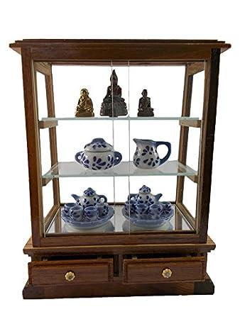 Merveilleux Small Vintage Teak Wood Cabinet Craft Handmade Carved Thai Cupboard  Furniture