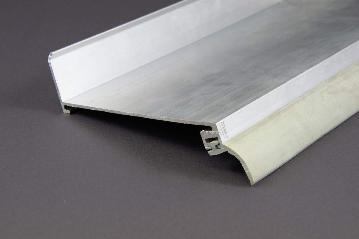 Wandanschlussprofil f/ür Stegplatten braun beschichtet 4100mm