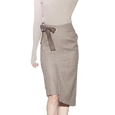 8bc08bf2a98d NIAIS Jupe Crayon Taille Haute Classique des Femmes Mi-Longues D été  Mi-Longues Jupes  Amazon.fr  Vêtements et accessoires