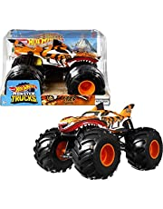 Hot Wheels Monster Trucks 1:24 Scale Die-Cast Assortment for Kids Age 3 4 5 6 7 8 Years Old, Great Birthday Gift Toy Truck with Big Wheels for Crashing and Smashing